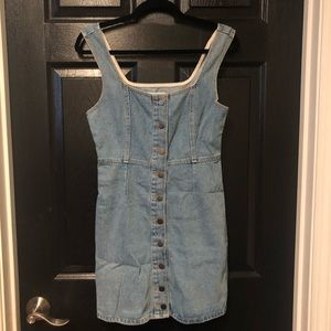 Urban outfitters denim button front mini dress